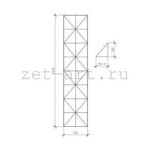 IN27 — Зеркальное панно индивидуального размера 2400х515мм