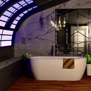 IN9 — Зеркальное панно индивидуального размера 2500х1500мм