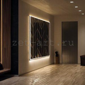 IN12 — Зеркальное панно индивидуального размера 2500х1500мм