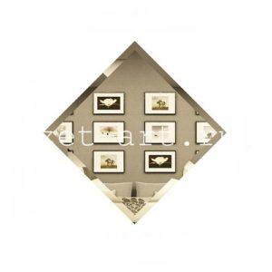 БК-10-Зеркальная плитка бронза квадрат 100х100мм фацет 10мм