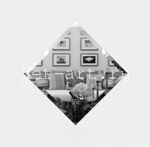 СК-10-Зеркальная плитка серебро квадрат 100х100мм фацет 10мм