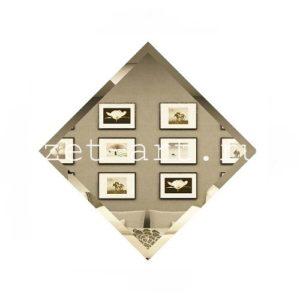 БК-15-Зеркальная плитка бронза квадрат 150х150мм фацет 10мм
