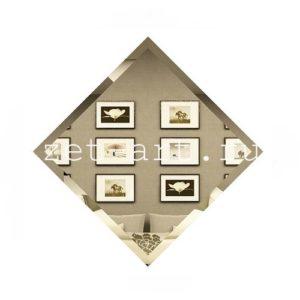 БК-18-Зеркальная плитка бронза квадрат 180х180мм фацет 10мм