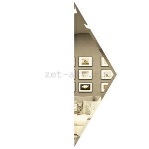 РБП100х340-Зеркальная плитка Полуромб бронза прямой 100х340мм фацет 10мм
