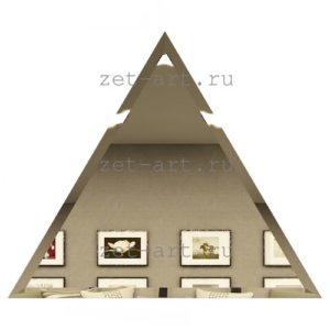 РБУ300х255-Зеркальная плитка Полуромб бронза угол 300х255мм фацет 10мм