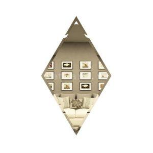 РБ200х340-Зеркальная плитка Ромб бронза 200х340мм фацет 10мм