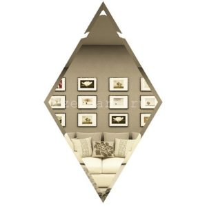 РБ300х510-Зеркальная плитка Ромб бронза 300х510мм фацет 10мм