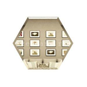 СБ200х173-Зеркальная плитка Сота бронза 200х173мм фацет 10мм
