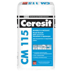 СМ115-25-Клей для плитки, мозаики и мрамора Церезит СМ115 (Ceresit CM115) 25кг