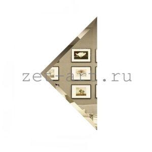 БУ-15-Зеркальная плитка бронза угол 150х150мм фацет 10мм