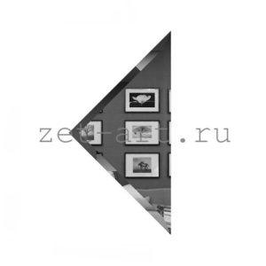 ГУ-15-Зеркальная плитка графит угол 150х150мм фацет 10мм