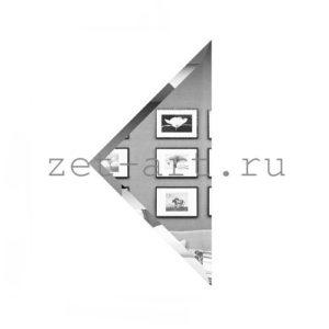 СУ-15-Зеркальная плитка серебро угол 150х150мм фацет 10мм