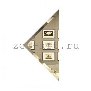 БУ-18-Зеркальная плитка бронза угол 180х180мм фацет 10мм
