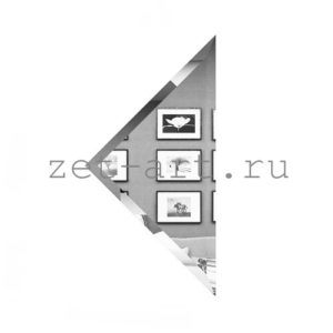 СУ-18-Зеркальная плитка серебро угол 180х180мм фацет 10мм