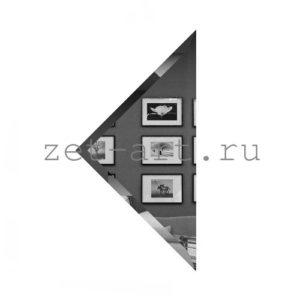 ГУ-20-Зеркальная плитка графит угол 200х200мм фацет 10мм