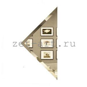 БУ-25-Зеркальная плитка бронза угол 250х250мм фацет 10мм