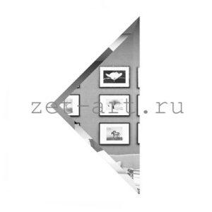 СУ-25-Зеркальная плитка серебро угол 250х250мм фацет 10мм