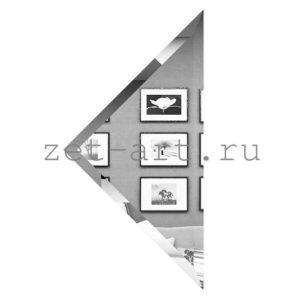 СУ-30-Зеркальная плитка серебро угол 300х300мм фацет 10мм