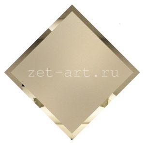БМК595-Зеркальная потолочная плитка бронза матовый квадрат 595х595мм фацет 10мм