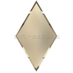 РБМ300х510-Зеркальная плитка Ромб бронза матовая 300х510мм фацет 10мм