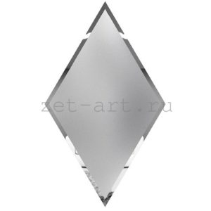РСМ300х510-Зеркальная плитка Ромб серебро матовое 300х510мм фацет 10мм