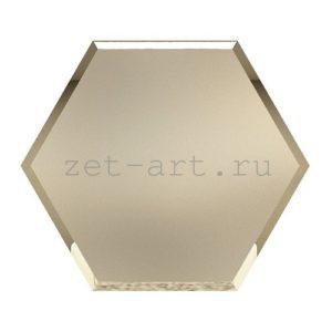 СБМ300х259-Зеркальная плитка Сота бронза матовая 300х259мм фацет 10мм