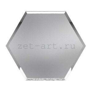 ССМ200х173-Зеркальная плитка Сота серебро матовое 200х173мм фацет 10мм