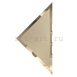 БМУ-20-Зеркальная плитка бронза матовый угол 200х200мм фацет 10мм