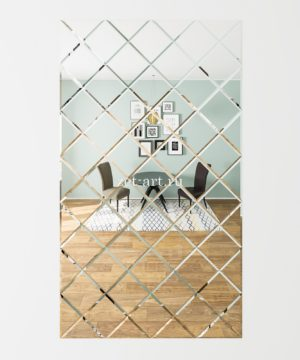 ЗПС12 Зеркальное панно Серебро 1132х1981мм квадрат 200мм, фацет 10мм