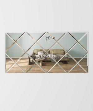 ЗПС15 Зеркальное панно Серебро 1416х708мм квадрат 250мм, фацет 10мм