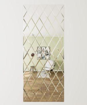ЗПС24 Зеркальное панно Серебро 1000х2380мм ромб 200х340мм, фацет 10мм