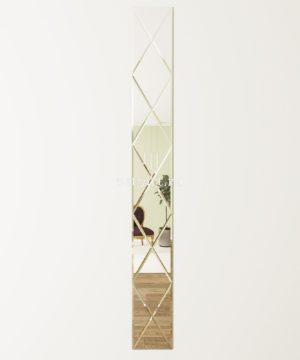 ЗПС26 Зеркальное панно Серебро 300х2550мм ромб 300х510мм, фацет 10мм