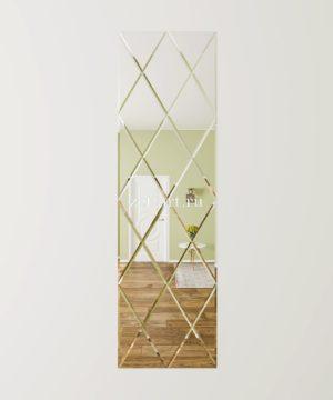 ЗПС27 Зеркальное панно Серебро 600х2040мм ромб 300х510мм, фацет 10мм
