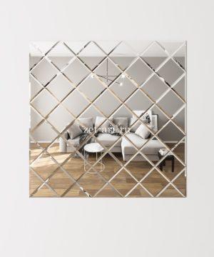 ЗПС5 Зеркальное панно Серебро 1275х1275мм квадрат 180мм, фацет 10мм