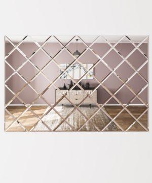 ЗПС9 Зеркальное панно Серебро 1530х1020мм квадрат 180мм, фацет 10мм