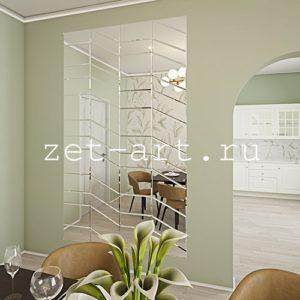 IN14 — Зеркальное панно индивидуального размера 2500х1500мм